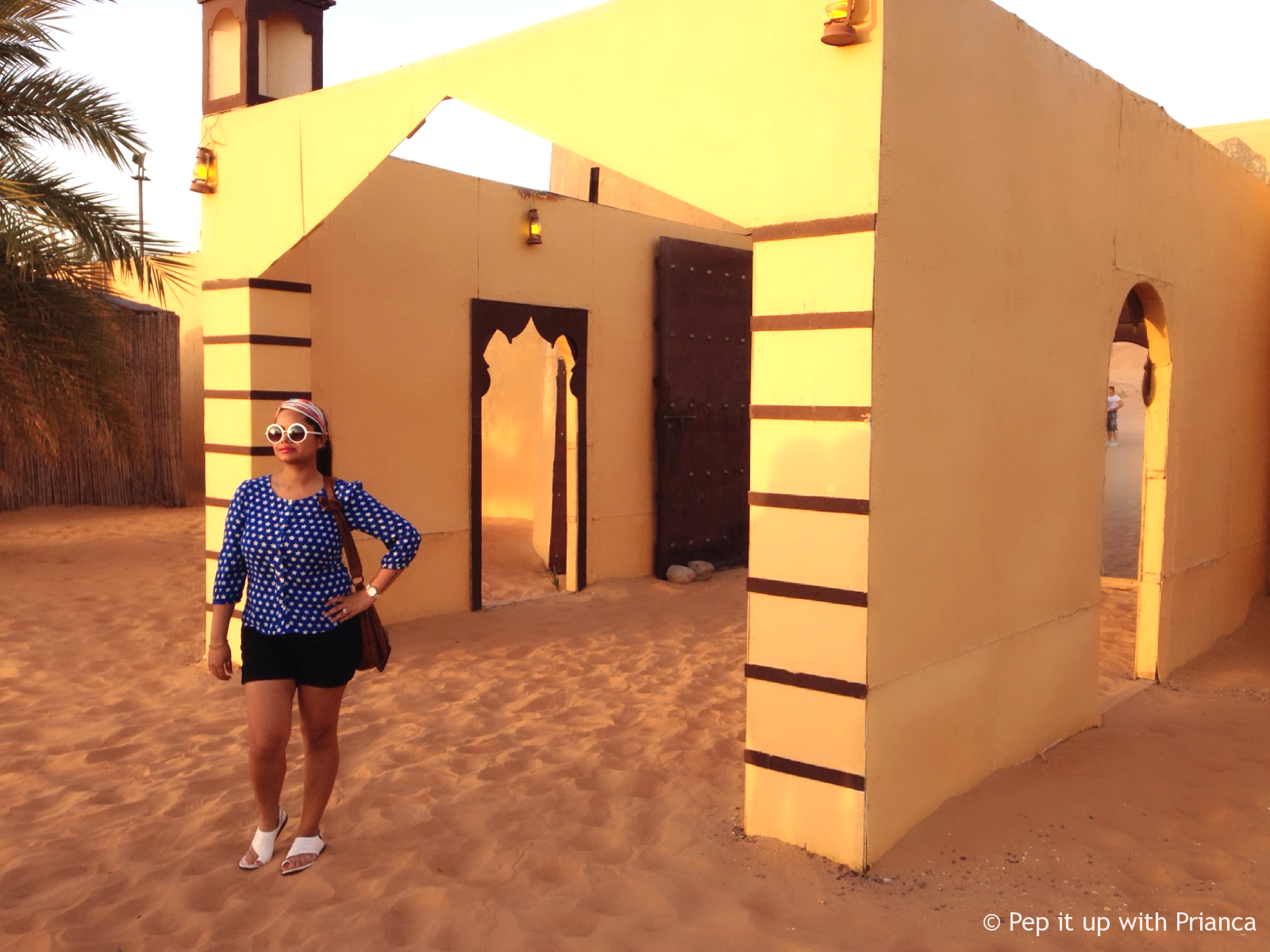 Ready for Camel ride after dune bashing