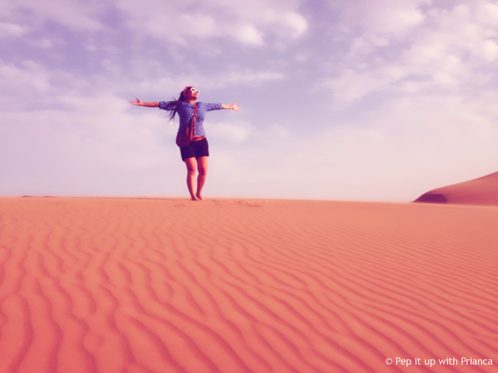 Dubai Desert fun Pep it up with prianca - Travel to the Desert to 'Desert' Yourself & Find your Soul - Magnificent Dubai Desert