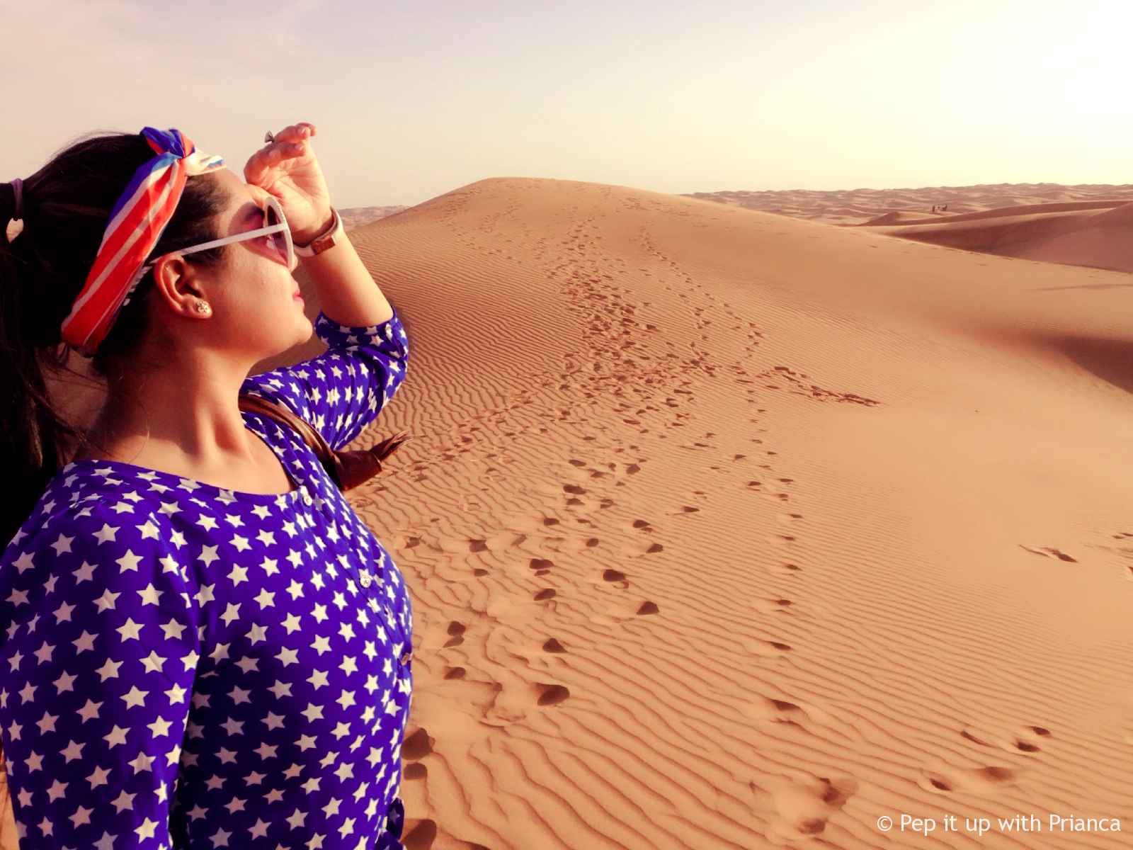 Dubai desert pep it up with prianca - Travel to the Desert to 'Desert' Yourself & Find your Soul - Magnificent Dubai Desert
