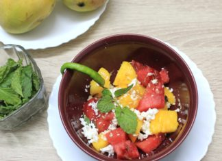 Internet is Going CRAZY Over this Summer Salad – Exotic Cottage Mango Melon Mint Salad