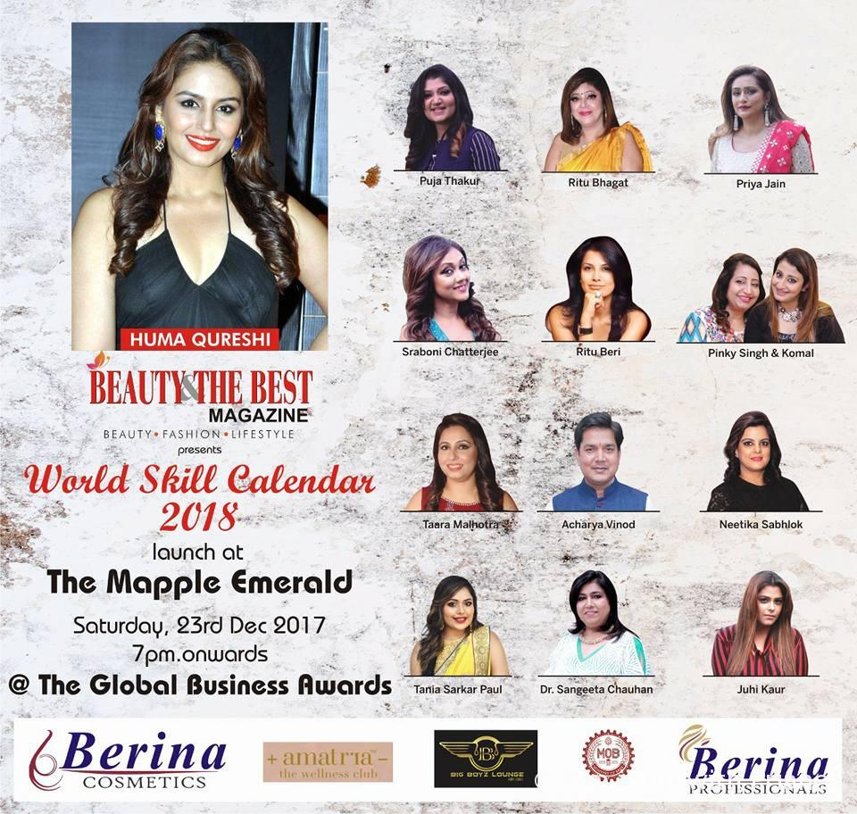 The Pan-Asia Global Business Awards and World Skill Calendar 2018 launch by Beauty & the Best Magazine and Sasha Media.