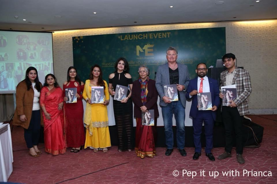 The launch of India's one of its kind anti-ageing health magazine 'ME' by the StemGenn Group.