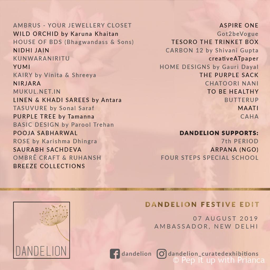 Dandelion ex - Dandelion Curated Exhibition Festive Edit August 2019 - Time to Stock for the Season
