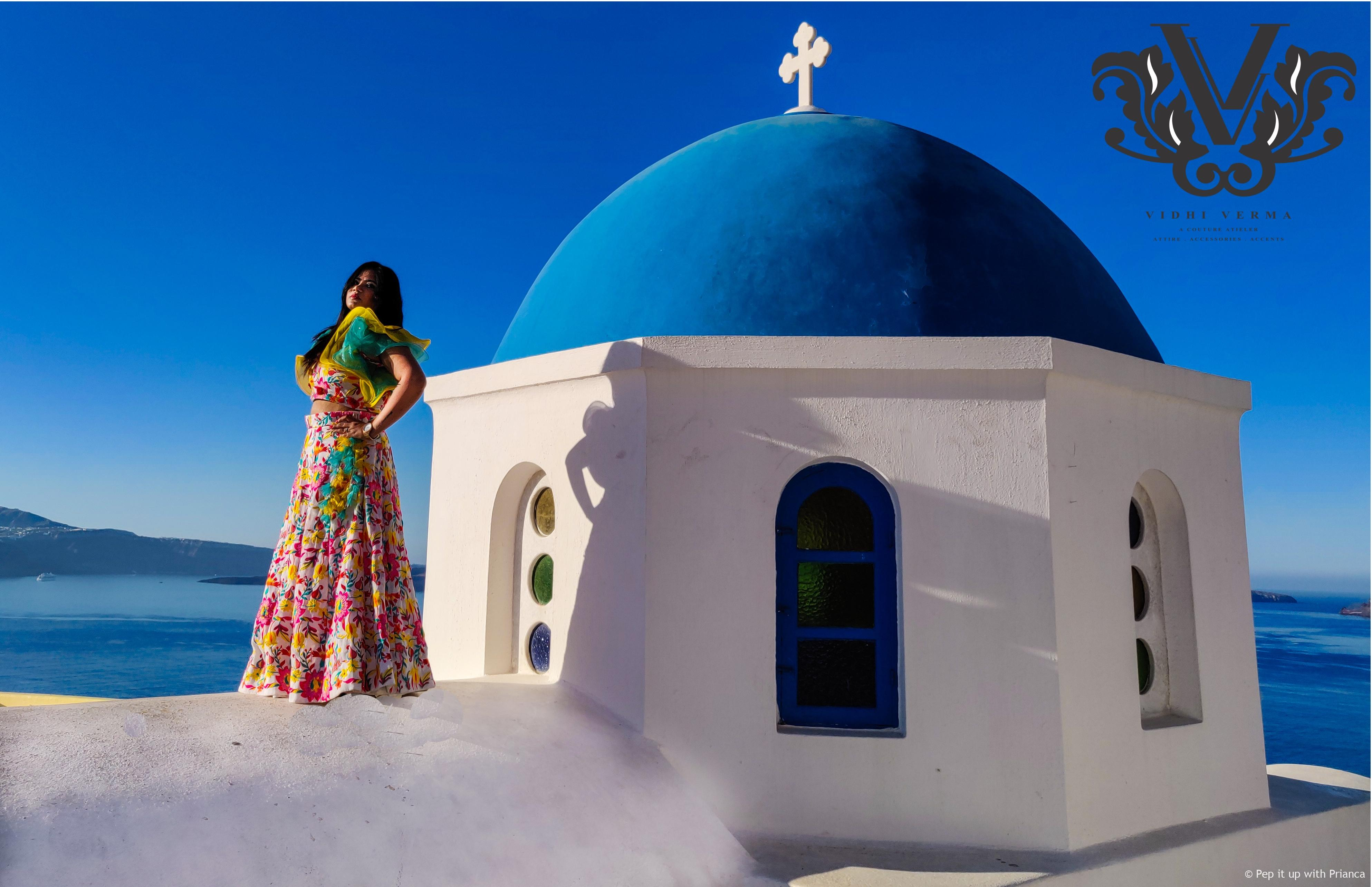 Vidhi Verma Santorini High and mighty shoot  - Exclusive Interview with Celebrity Fashion Designer Vidhi Verma - Get Inspired from her Successful Journey